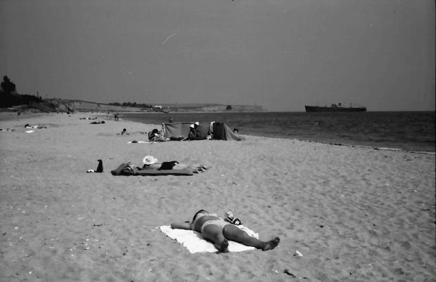 Plaja statiunii Costinesti - 1971