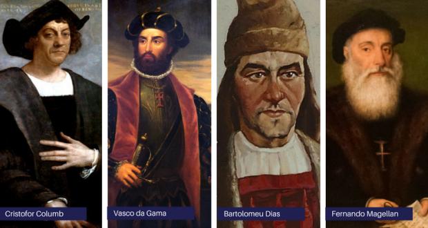 Cristofor-Columb-Vasco-Da-Gama-Bartolomeu-Dias-Fernando-Magellan