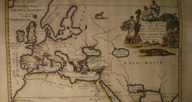 Harta - zonele navigate de fenicieni