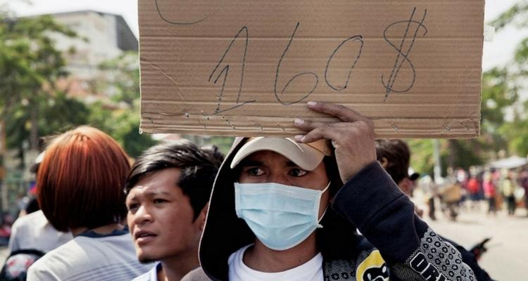 2013 - Protestele din Cambodgia pentru obtinerea unor conditii decente de munca