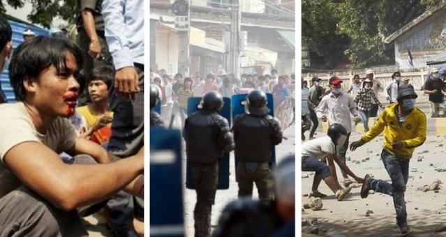 2013 - Protestele din Cambogia acțiunea autorităților
