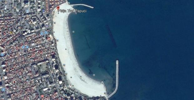 Digul scufundat (submers) - Plaja Trei Papuci