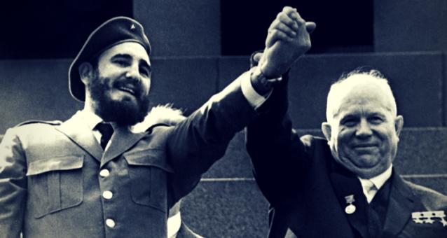 Fidel Castro și Nikita Hrușciov - Moscova 1963
