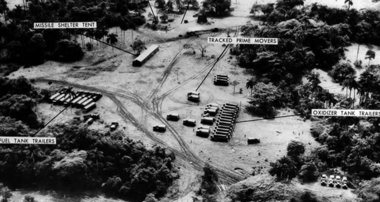 Imagine cu bazele de rachete captată de avioanele de spionaj americane
