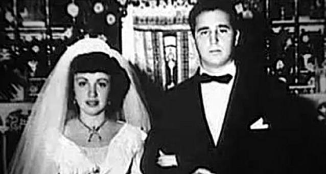 Fidel Castro alături de prima soție Mirta Diaz-Balart