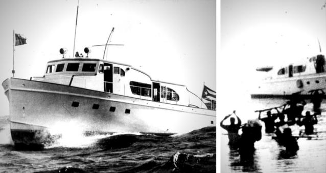 """Yacht-ul cu motor """"Granma"""" utilizat de Fidel Castro"""