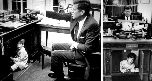 JFK si John Jr. - Biroul Oval - Casa Albă