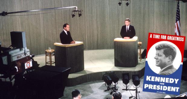 Richard Nixon și JFK în campania electorală - 1960