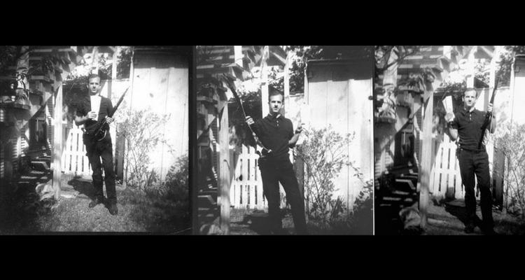 Lee Harvey Oswald - imagini din curtea casei