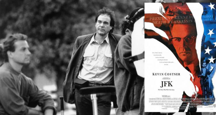 Regizorul Oliver Stone la filmarile pentru JFK