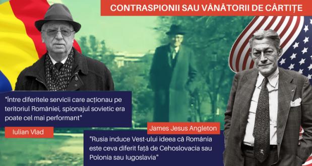 Iulian Vlad (stanga) si James Angleton (dreapta)