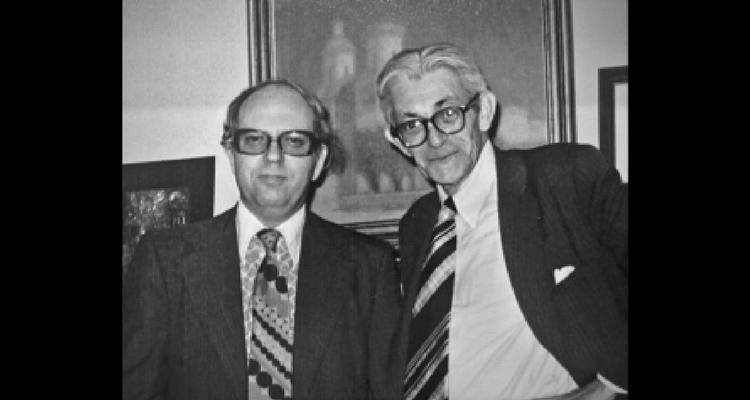 Efraim Halvey, viitorul șef al Mossad, alături de James Angleton