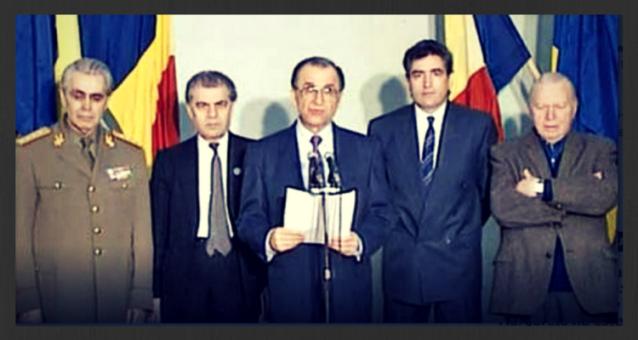 Gen. Nicolae Militaru, Dumitru Mazilu, Ion Iliescu, Petre Roman, Silviu Brucan