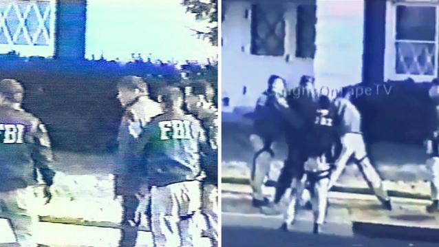 Momentul în care Robert Philip Hanssen este reținut de o grupă FBI