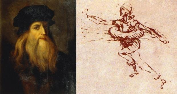 Colacul de Salvare desenat de Leonardo da Vinci în 1493