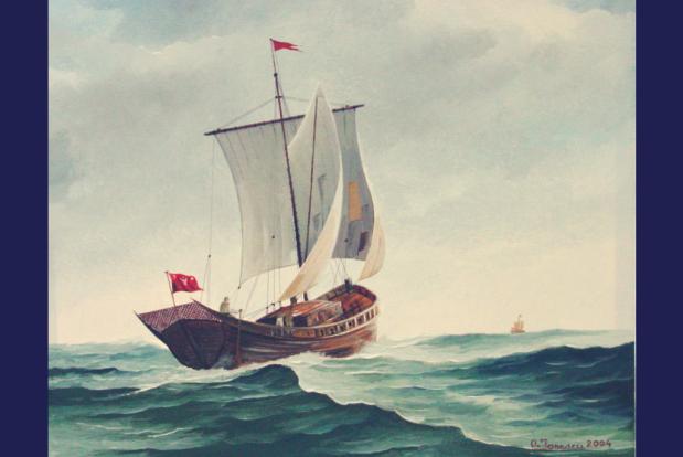 Pânzar Moldovenesc - pictură în ulei pe pânză de Cpt.Cdor Ionescu Ovidiu-VIctor - 2004