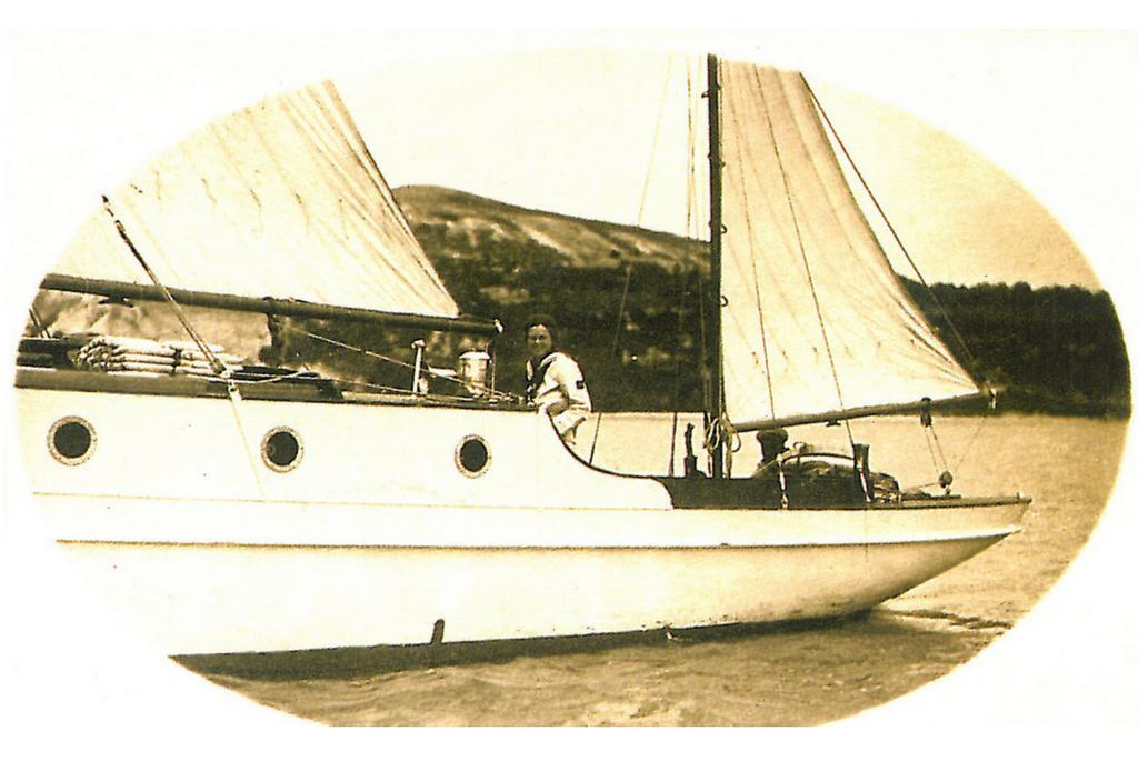 Principesa Ileana a Romaniei pe Yachtul ISPRAVA