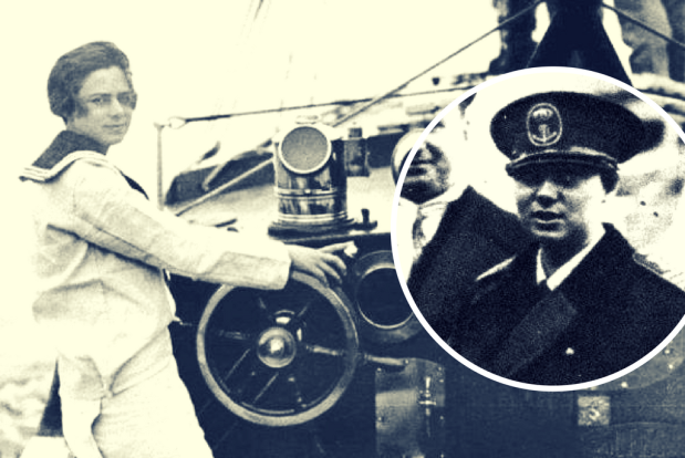 Principesa Ileana la bordul Yachtului ISPRAVA - Balcic 1929