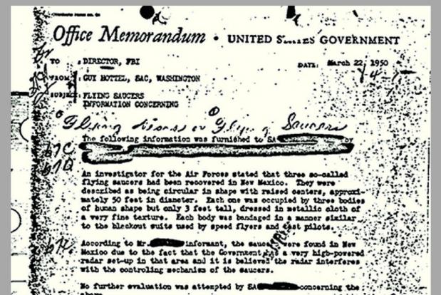 Raportul agentului Guy L. Hottel - sursa FBI - The Vault