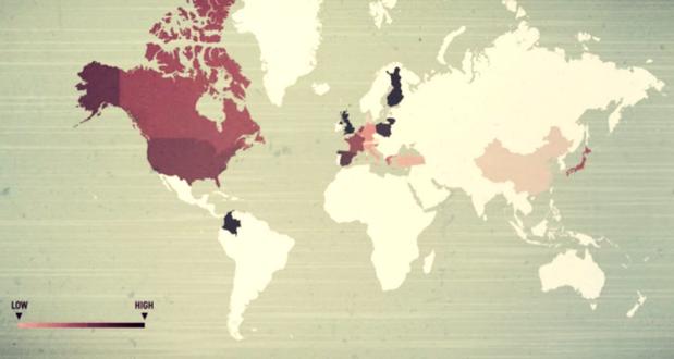 Harta alergiilor alimentare - in statele care au inceput colectarea si raportarea datelor