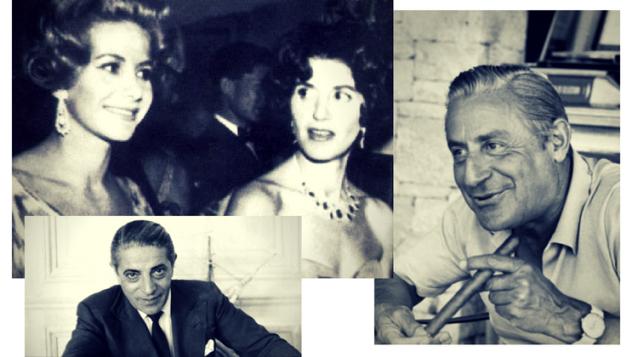 Ari Onassis, surorile Livanos și Stavros Niarchos