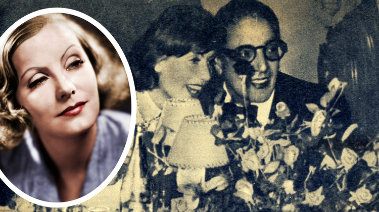 Aristotel Onassis alături de Greta Garbo