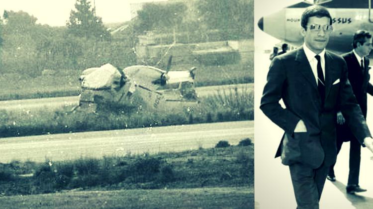 Epava avionului OLYMPIC AIR pilotat de Alexander Onassis