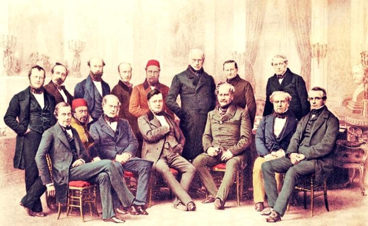Reprezentanţii ţărilor participante la Congresul de la Paris din 1856, care a pus capăt Războiului Crimeii