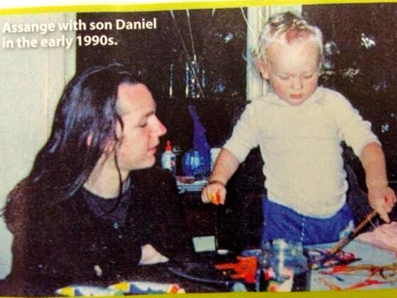 Julian și fiul său Daniel - începutul anilor '90